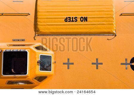 Orange Lifeboat
