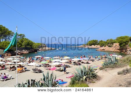 Wiew of Cala Gracio in Ibiza, Spain