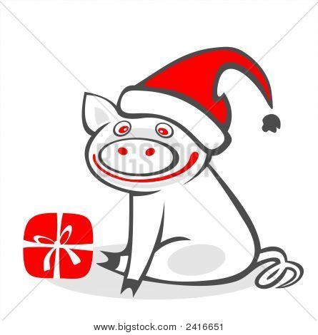 Weihnachten-Schwein