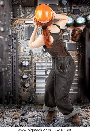 Red-haired Worker Girl