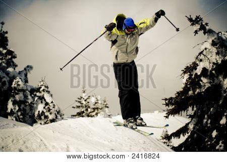 Winter Sports Concept - Ski Jump