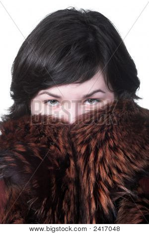 Girl In Coat Hide Lips