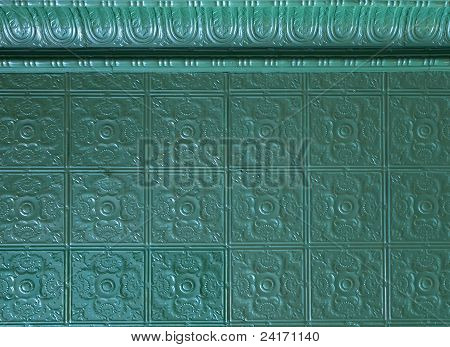 old painted decorative tin ceiling tiles
