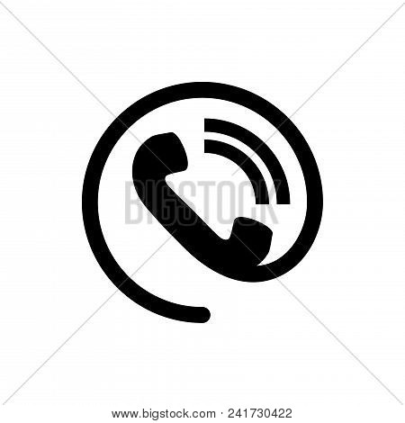 Phone Contact Icon Vector In Modern Flat Style For Web Graphic And