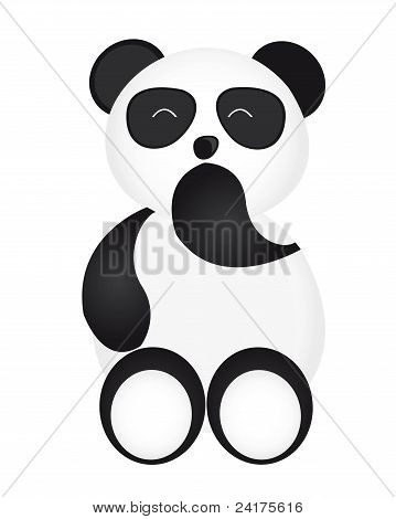 happy panda cartoon