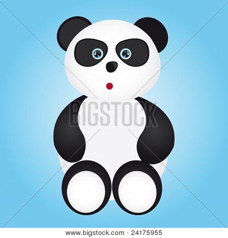 amazed panda