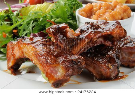 Baby Back Ribs And Greens