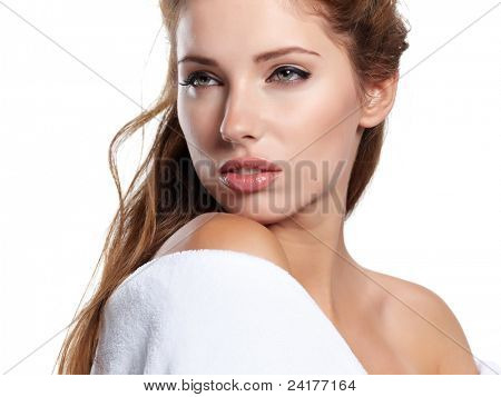 Beautiful Spa Woman portrait.Clear fresh skin.