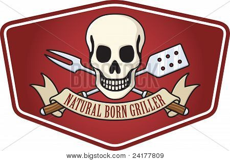 natural born Griller Grill logo