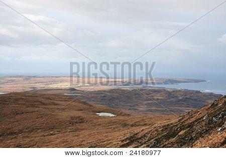 Coastal Landscape Near Stac Pollaidh