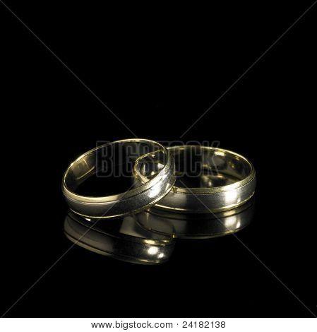 Wedding Rings In Black Back