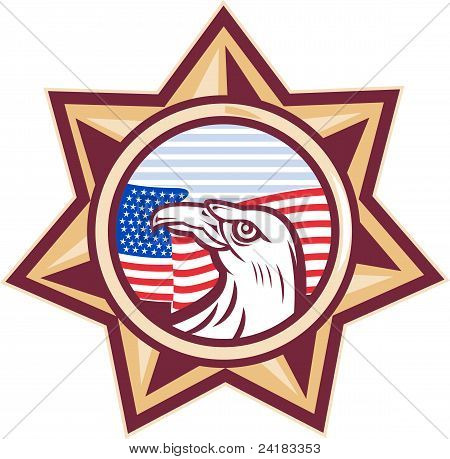 American Eagle Stars And Stripes Flag Star