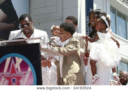 LOS ANGELES - MAY 2: Actor-rapper Sean 'P Diddy' Combs and family at the ceremony honoring him with a star on the Hollywood Walk of Fame, May 2, 2008 on Hollywood Boulevard in Los Angeles, California