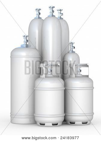 Cylinders With The Compressed Gases