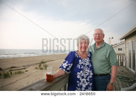 Happy Senior Couple On Vacation