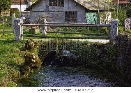 Small stream and bridge