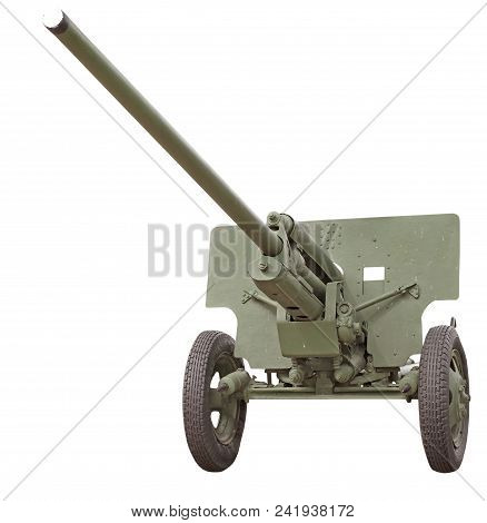 Old Soviet Cannon Of Period