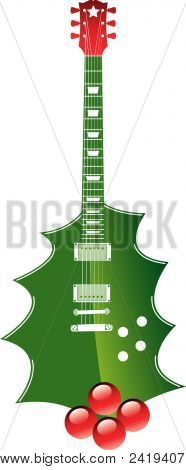Christmas Guitar.Eps