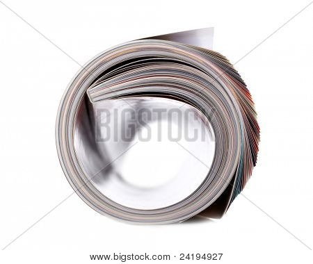 Magazin Roll, isolated on white