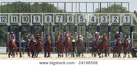 Start Gates For Horse Races.