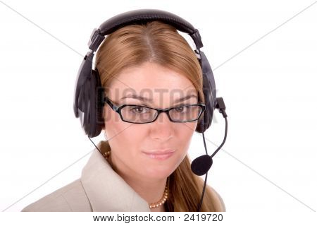 Beautiful Call Service Operator