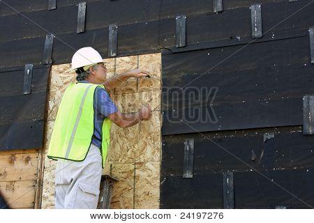 Carpenter On A Ladder