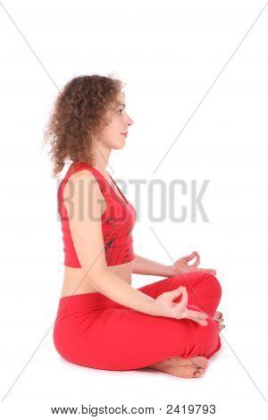 Yoga Woman Meditating