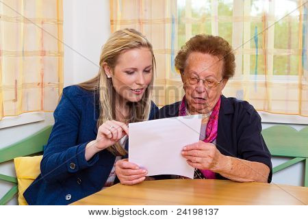 grandchild and grandmother. contract, will