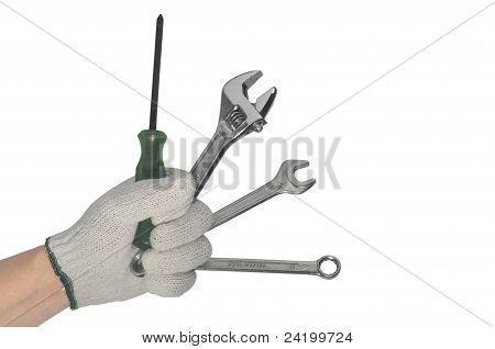 Muchas herramientas de explotación de la mano de trabajo