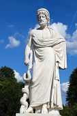 Statue At The Park Of Sanssouci (potsdam, Germany),  Used To Be A Summer Residence Of King Of Prussi poster