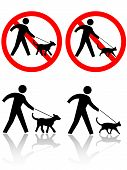 Persons Walk Dog Cat Pet Animals poster