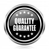 Quality guarantee black silver metallic chrome border glossy round web icon poster