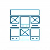 Control Panel Line Icon, Vector Illustration. Control Panel Linear Concept Sign. poster