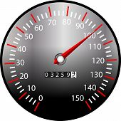 pic of speedo  - a illustration of a speed meter from a dashboard - JPG