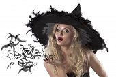 Постер, плакат: Портрет милой и сексуальный ведьма