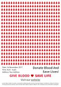 Blood Donation Campaign Vector Poster Template. Blood Donation Creative Concept With Sample Text And poster