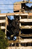 image of former yugoslavia  - ministry of defense building in Belgrade damaged during the 1999 NATO bombing - JPG