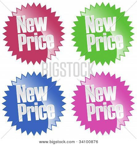 New Price Sticker Set