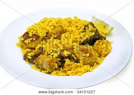 paella rice chicken and rabbit