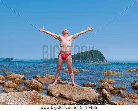 Man At Seacoast