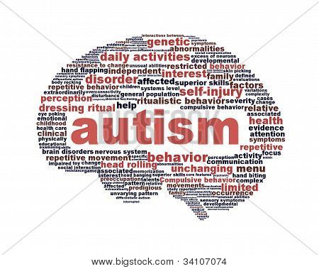 Autism symbol design isolated on white