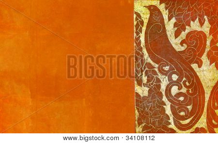 lovely earthy background with bird design