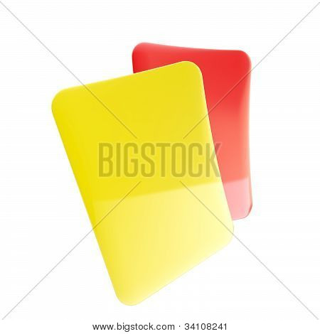 Red and yellow football referee cards