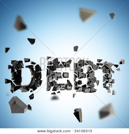Debt pit abstract composition background