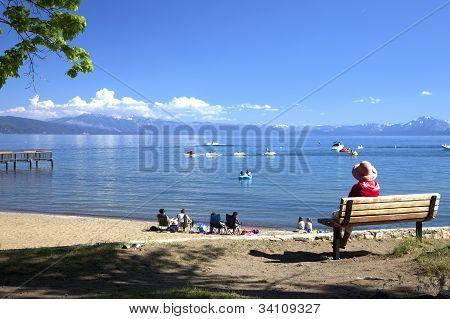 The Beach At Lake Tahoe, Ca.