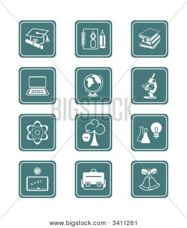 Education Objects Icons
