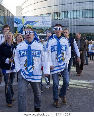 Hockey Fans in 2012 Ice Hockey World Championship in Finland