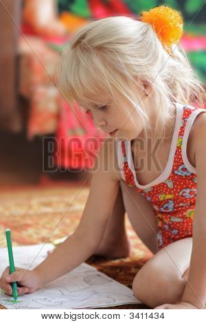 The Child Drawing