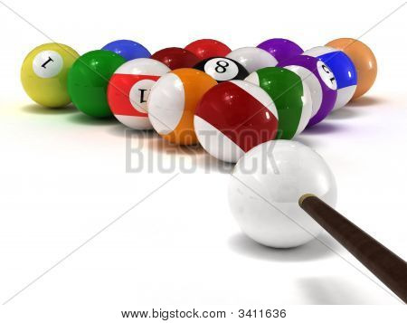Billiard Balls Isolated On White