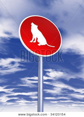 Wolf Sign For Traffic